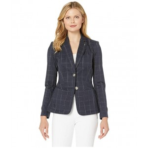 Two-Button Window Pant Jacket Midnight/Ivory