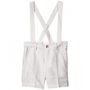 Linen Suspender Shorts (Toddler/Little Kids/Big Kids)