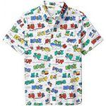 Short Sleeve Button-Down Super Dude Shirt (Toddler/Little Kids/Big Kids)