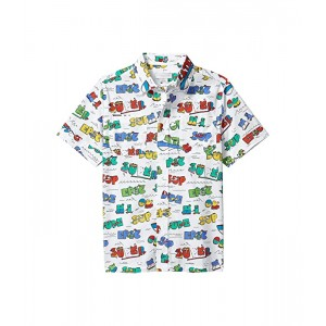 Stella McCartney Kids Short Sleeve Button-Down Super Dude Shirt (Toddleru002FLittle Kidsu002FBig Kids) Multi