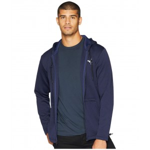 Vent Hooded Jacket Peacoat