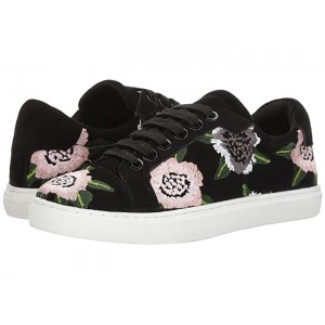 Bleecker Floral Embroidery Floral Embroidery/Black Suede
