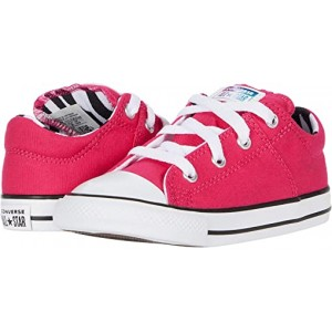 Converse Kids Chuck Taylor All Star Madison Zebra - Ox (Infantu002FToddler) Cerise Pink/Black/White