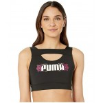 Flourish Crop Top Puma Black/Cerise