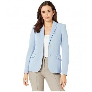 Two-Button Knit Blazer Oxford Blue/Indigo
