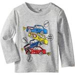 Georgie Stacked Cars Long Sleeve Tee (Infant)