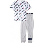 Two-Piece All Over Print Joggers Sleepwear Set (Big Kids)
