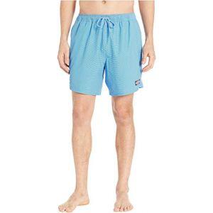 Fine Line Stripe Chappy Swim Shorts Hull Blue
