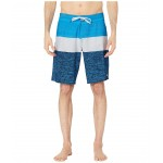 20 Everyday Blocked Vee 2.0 Boardshorts Swim Trunks Malibu Blue