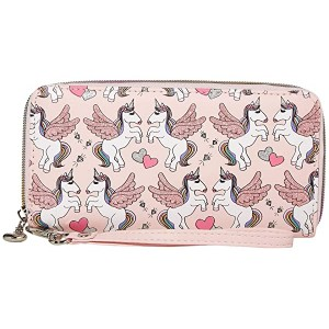 OMG! Accessories Winged Unicorn Wallet Pink
