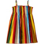 Painterly Striped Poplin Dress (Toddler/Little Kids)