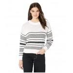 Manhattan Calling Sweater Marshmallow Horizontal Licorice Stripe