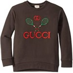 GG Tennis Logo Long Sleeve Sweatshirt (Little Kids/Big Kids)