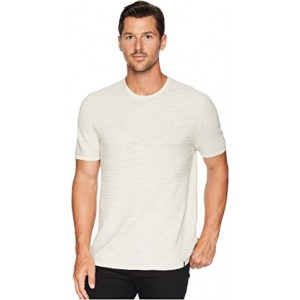 Texture Stripe Linen T-Shirt Silver Birch