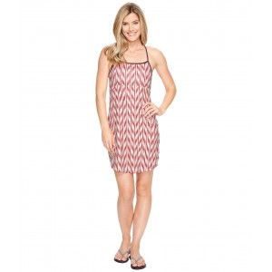 Exposure Dress Burnt Coral Ikat Print (Prior Season)