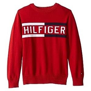 Hilfiger Logo Sweater (Toddler/Little Kids) Scarlet Sage