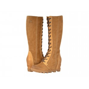 Joan of Arctic Wedge II Tall Camel Brown Full Grain Leather/Oiled Suede
