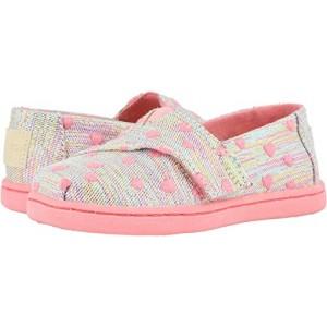 TOMS Kids Alpargata (Toddleru002FLittle Kid) Pink Multi Heartsy Twill Glimmer
