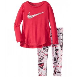 Nike Kids Dri-FIT Sport Essentials Long Sleeve Tunic and Leggings Two-Piece Set (Toddler) Black