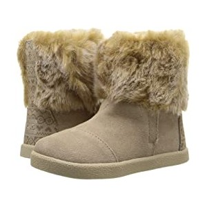 Nepal Boot (Infant/Toddler/Little Kid) Oxford Tan Suede/Faux Fur