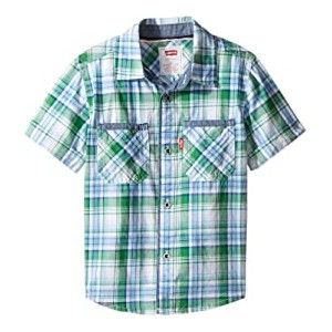 Seacliff Short Sleeve Shirt (Toddler) Medium Green