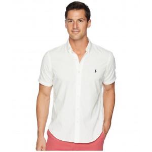Chambray Short Sleeve Sport Shirt White