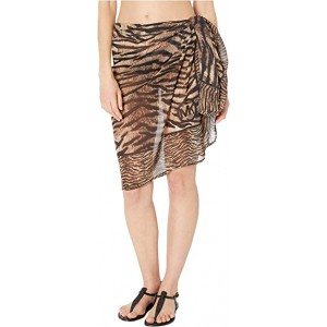 Tiger Mix Print Pareo Cover-Up