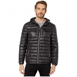 Packable Double Pocket Jacket w/ Hood Black