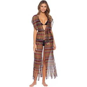 Carnavale Multicolor Crochet Kimono Cover-Up Multi