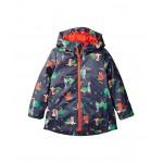 Printed Waterproof Coat (Toddler/Little Kids/Big Kids) Navy Garden