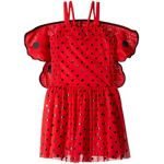Bonny Ladybug Sleeveless w/ Detachable Wings Dress (Toddler/Little Kids/Big Kids)