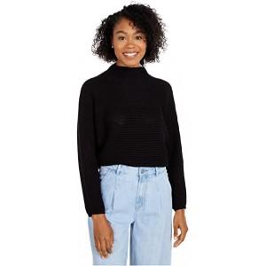 Mock Neck Long Sleeve Sweater Black