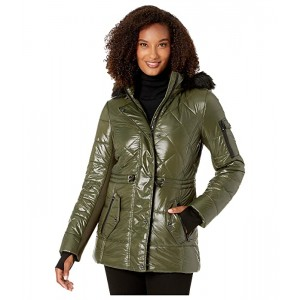 Active Polyfill with Faux Fur Trim Hood A420784TZ