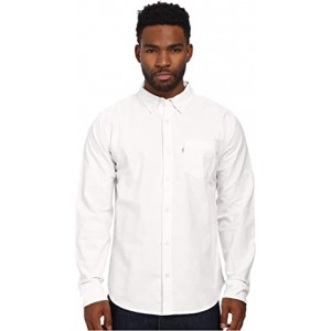 Clampert Worn In Oxford Long Sleeve Shirt Bright White