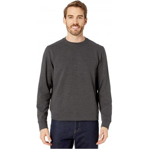 Perry Ellis Ottoman Rib Knit Long Sleeve Shirt Charcoal Heather