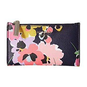 Sylvia Wildflower Bouquet Small Slim Bifold Wallet Navy Multi