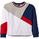 Spliced Crew Color Block French Terry Sweatshirt (Big Kids)