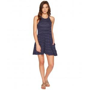 Just Start Romper Dress Blues Pencil Stripe