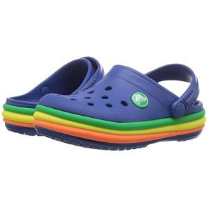 Crocband Rainbow Band Clog (Toddler/Little Kid) Blue Jean