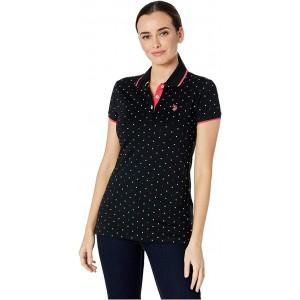 U.S. POLO ASSN. Dot Print Polo Shirt Anthracite