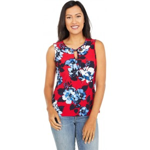 Tommy Hilfiger Sleeveless Top Ruby/Navy