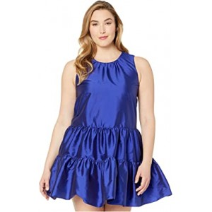 Tiered A-Line Taffeta Dress