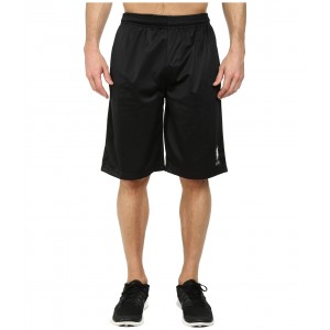 Solid Tricot Athletic Shorts Black
