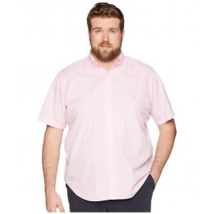Big & Tall Garment Dyed Chino Short Sleeve Sport Shirt Carmel Pink