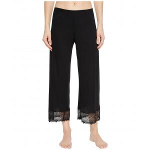 Venice Cropped Pants w/ Lace Hem Black