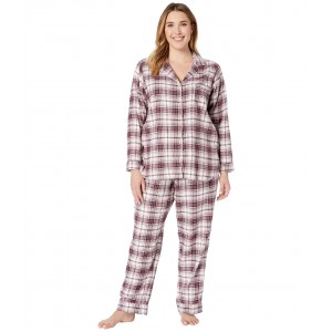 Plus Size Raven PJ Set Port Plaid