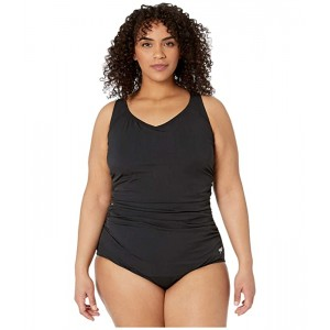 Plus Size Side Shirred Contourback One-Piece