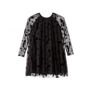 Long Sleeve Flock Stars Tulle Dress (Toddler/Little Kids/Big Kids) Black