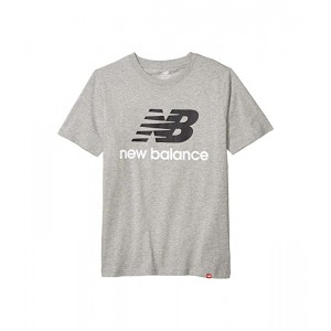 New Balance Essentials Stacked Logo Tee Athletic Grey