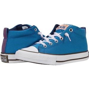 Converse Kids Chuck Taylor All Star Street Whip Stitch - Mid (Little Kidu002FBig Kid) Egyptian Blue/Bold Mandarin